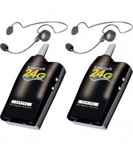 Eartec SLT24G2CYB - SLT24G 2 Radios w/ Cyber Headsets