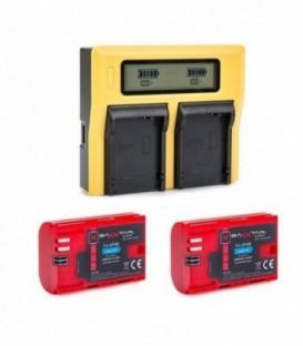 Patona PA-PA1809-BA10782KIT - Dual LCD Charger for LP-E6 including 2x Baxxtar