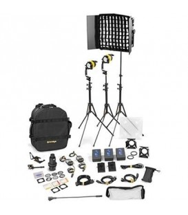 Dedolight BWLED2x1-BI-B-E - 3 Light Kit - BICOLOR AC (BASIC)