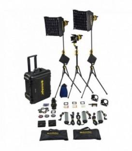 Dedolight KLT7-3-BI-E - Hard case Kit with 3x DLED7 bicolor LED lights