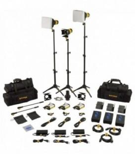Dedolight SLT3-3-BI-M - 3x DLED3 focusing bicolor LED light heads