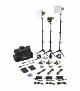 Dedolight SLT3-3-BI-S - 3x DLED3 focusing bicolor LED light heads