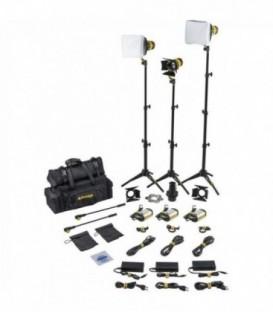 Dedolight SLT3-3-D-S - 3x DLED3 focusing daylight LED light heads