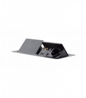 Kramer TBUS-202XL(B) - Dual Pop-Up Table Mount Multi-Connection Solution - Black