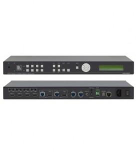 Kramer VS-44DT - 4x4 4K60 4:2:0 HDMI/HDBaseT Extended-Reach PoE Matrix Switcher