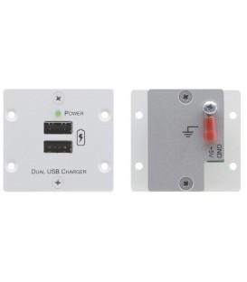 Kramer W-2UC(G) - Wall Plate Insert - Dual USB Charger - Gray