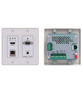 Kramer WP-20/EU(G)-80 - 4K60 4:2:0 HDMI & VGA Step-In PoE Wall-Plate Transmitter - Gray