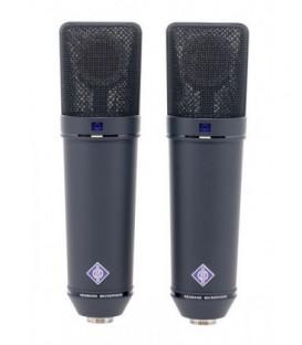 Neumann U 87 Ai mt Stereo Set - Multi-Pattern Condenser Microphone, Black Stereo Set