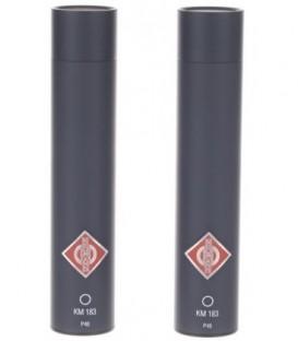 Neumann KM 183 mt stereo set - Omnidirectional Microphone, Black Stereo Set