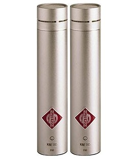 Neumann KM 185 Stereo Set - Hypercardioid Microphone, Nickel Stereo Set
