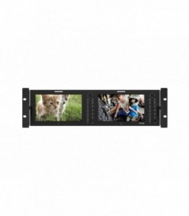"TVLogic RKM-270A - Monitor Bridge, with 2x7"" LCD display"