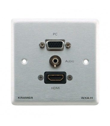 Kramer WXA-H/EU(W)-80 - Passives Wallplate - HD, 3,5mm stereo Audio & HDMI - White