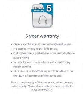 Sony DIBOXCC5 - Complete Cover Warranty DI 5 Year