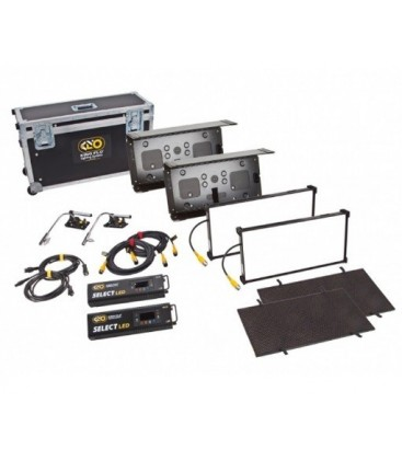 Kinoflo KIT-F22U - Interview/FS 21 LED DMX Kit (2-Unit), Univ 230U