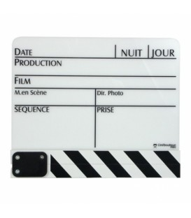 Cineboutique A-CLAPBLAGM - White Clapboard - Big size 280 X 190mm