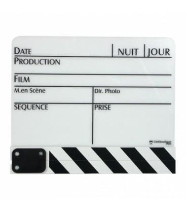 Cineboutique A-CLAPBLAGM - White Clapboard - Big size 280 X 190mm