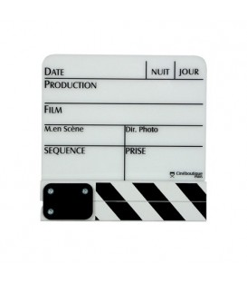 Cineboutique A-CLAPBLAPM - White Clapboard - Small size 280 X 190mm