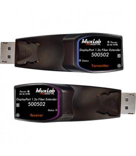 MuxLab 500502 - DisplayPort 1.2a Fiber Extender Kit