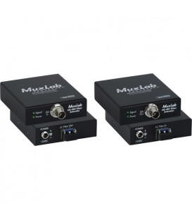 MuxLab 500712 - 6G-SDI FIBER EXTENDER KIT, SINGLE MODE, LC