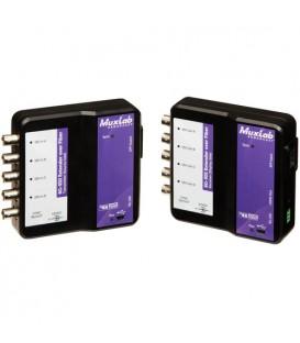 MuxLab 500732-SM80 - 6G-SDI Extender Over Fiber Kit (SM 80km)