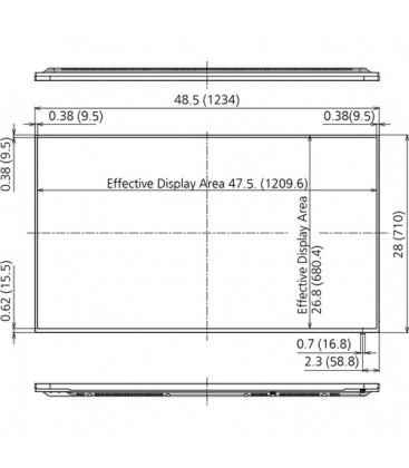 "Panasonic TH-55SF2E - 55"" LCD Display IPS-LED"