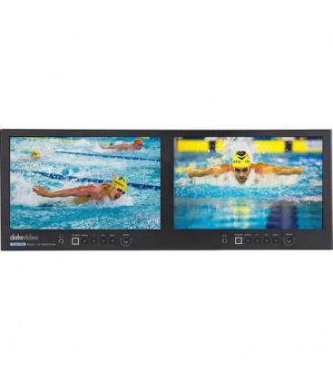 Datavideo 2100-0102 - TLM-102 - 10.1 inches 4RU Rack mount Dual monitors