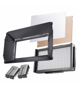 Walimex Pro WP-LI-21160 - LED Foto Video Square 312 Bi Color Set