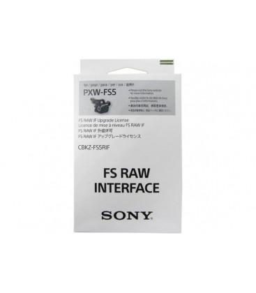 Sony CBKZ-FS5RIF - RAW upgrade for the PXW-FS5