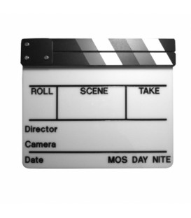 Cineboutique A-CLAPBLAGMUS - White clapboard with grey chart