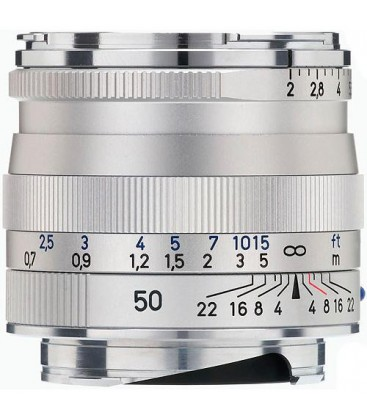 Zeiss 1365-660 - Planar T* 2/50, silver, 43 mm