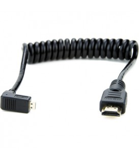 Atomos ATOMCAB007 - 1 X Coiled Right-Angle MICRO to Full HDMI Cable