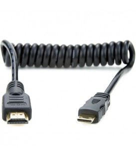 Atomos ATOMCAB008 - 1 X Coiled Mini HDMI to Full HDMI Cable (30cm)