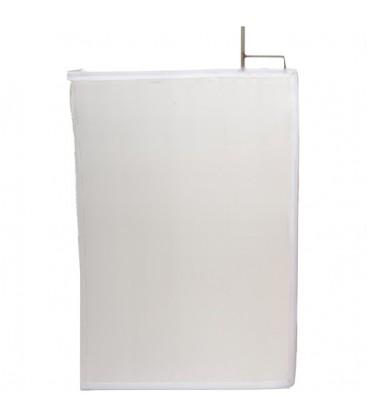 Matthews 149556 - 24 inches x 36 inches China Silk - White