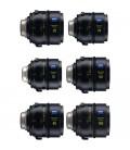 Zeiss 2271-991 - Supreme Prime PL Feet 6 Lens Set