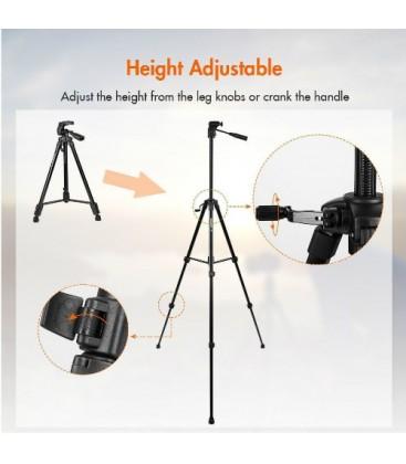 FotoPro X2 (DIGI-9300++SJ-85+GA-1) - Aluminum Tripod Kit with ball head and cell phone adapter