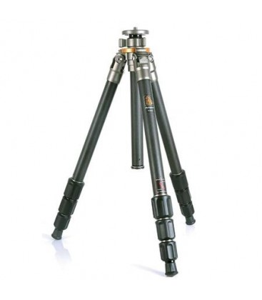 FotoPro T-64C Pro - 4-Section Carbon Fiber Tripod Kit with Center Column and Hard Case