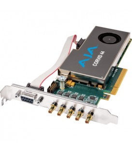 AJA Corvid 44-T - Flexible Multi-Format I/O card, Standard-profile 8-lane PCIe, 4 x SDI