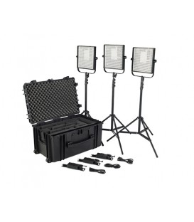 Litepanels 903-6103 - 1x1 LS Traveler Trio Plus Kit (EU Version)