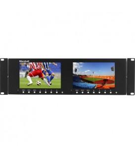 "Marshall M-LYNX-702-V3 - Dual 7"" 3RU 1280x800 LCD Rack Mount Monitor"
