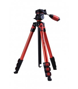 FotoPro S3 - Aluminum Standard Tripod (red)