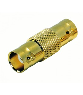 Contrik BNCF-BNCF - Adapter BNC female-BNC female, Gold-Plated