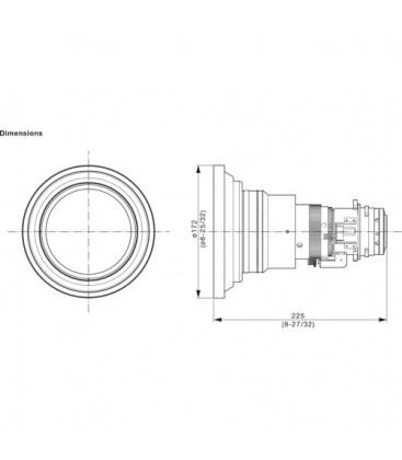 Panasonic ET-DLE060 - Zoom Lens for 1DLP Projector 0.6-0.81