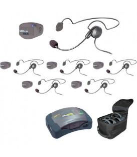 Eartec UPCYB6 - 1 HUB, 6 UltraPAK & 6 Cyber Headsets