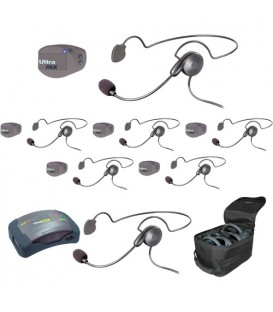 Eartec UPCYB7 - 1 HUB, 7 UltraPAK & 7 Cyber Headsets