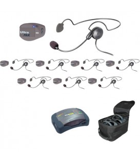 Eartec UPCYB8 - 1 HUB, 8 UltraPAK & 8 Cyber Headsets
