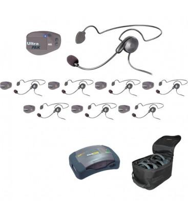 Eartec UPCYB8 - 1 HUB, 8 UltraPAK & 8 Cyber Headsets