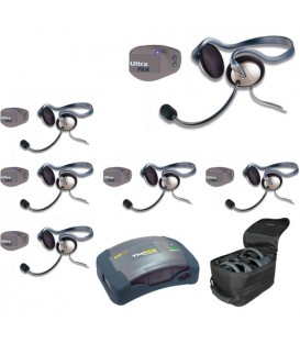 Eartec UPMON6 - 1 HUB, 6 UltraPAK & 6 Monarch Headsets