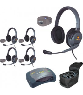 Eartec UPMX4GD5 - 1 HUB, 5 UltraPAK & 5 Max 4G Double Headsets