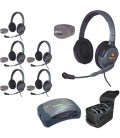 Eartec UPMX4GD6 - 1 HUB, 6 UltraPAK & 6 Max 4G Double Headsets