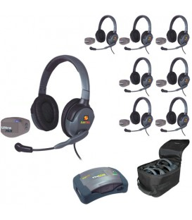 Eartec UPMX4GD8 - 1 HUB, 7 UltraPAK & 7 Max 4G Double Headsets